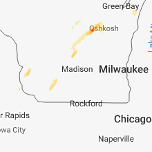Regional Hail Map for Madison, WI - Tuesday, October 9, 2018