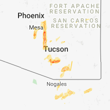 Regional Hail Map for Tucson, AZ - Sunday, October 21, 2018