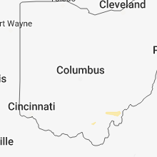 Regional Hail Map for Columbus, OH - Sunday, October 28, 2018