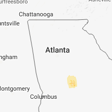 Regional Hail Map for Atlanta, GA - Wednesday, November 7, 2018