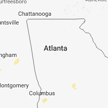 Regional Hail Map for Atlanta, GA - Saturday, December 1, 2018