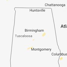 Regional Hail Map for Birmingham, AL - Saturday, December 1, 2018