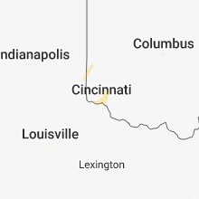 Regional Hail Map for Cincinnati, OH - Saturday, December 1, 2018