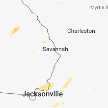 Regional Hail Map for Savannah, GA - Sunday, December 2, 2018