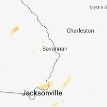 Regional Hail Map for Savannah, GA - Sunday, December 2, 2018