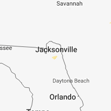 Regional Hail Map for Jacksonville, FL - Monday, December 3, 2018