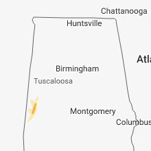 Regional Hail Map for Birmingham, AL - Thursday, December 27, 2018