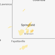Regional Hail Map for Springfield, MO - Wednesday, February 6, 2019