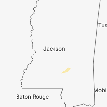 Regional Hail Map for Jackson, MS - Monday, February 18, 2019