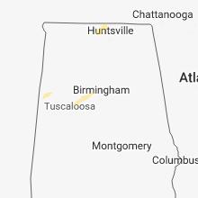 Regional Hail Map for Birmingham, AL - Tuesday, February 19, 2019