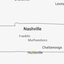 Regional Hail Map for Nashville, TN - Tuesday, February 19, 2019