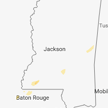 Regional Hail Map for Jackson, MS - Wednesday, February 20, 2019