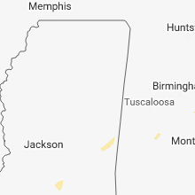 Regional Hail Map for Starkville, MS - Wednesday, February 20, 2019