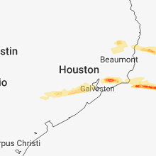 Regional Hail Map for Houston, TX - Tuesday, February 26, 2019
