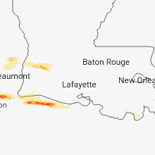 Regional Hail Map for Lafayette, LA - Tuesday, February 26, 2019