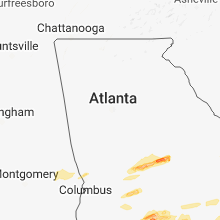 Regional Hail Map for Atlanta, GA - Sunday, March 3, 2019