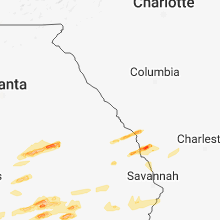 Regional Hail Map for Augusta, GA - Sunday, March 3, 2019