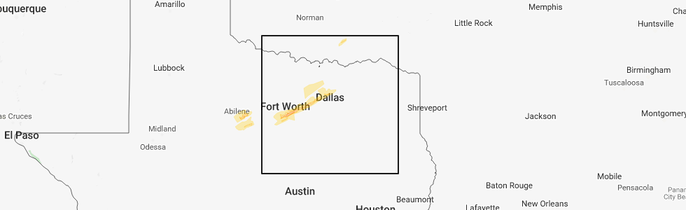 Interactive Hail Maps - Hail Map for Weatherford, TX