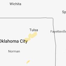 Regional Hail Map for Tulsa, OK - Friday, March 8, 2019