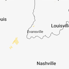 Regional Hail Map for Evansville, IN - Saturday, March 9, 2019
