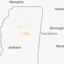 Regional Hail Map for Starkville, MS - Saturday, March 9, 2019