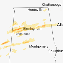 Regional Hail Map for Birmingham, AL - Thursday, March 14, 2019