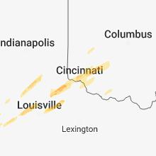 Regional Hail Map for Cincinnati, OH - Thursday, March 14, 2019
