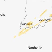 Regional Hail Map for Evansville, IN - Thursday, March 14, 2019