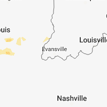 Regional Hail Map for Evansville, IN - Sunday, March 24, 2019