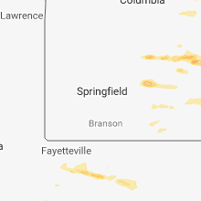 Regional Hail Map for Springfield, MO - Sunday, March 24, 2019
