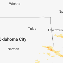 Regional Hail Map for Tulsa, OK - Sunday, March 24, 2019
