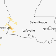 Regional Hail Map for Lafayette, LA - Monday, March 25, 2019