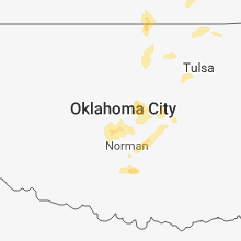 Regional Hail Map for Oklahoma City, OK - Friday, March 29, 2019