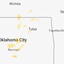 Regional Hail Map for Tulsa, OK - Friday, March 29, 2019