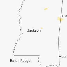 Regional Hail Map for Jackson, MS - Saturday, March 30, 2019