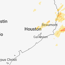 Regional Hail Map for Houston, TX - Wednesday, April 3, 2019