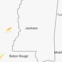 Regional Hail Map for Jackson, MS - Wednesday, April 3, 2019