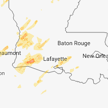 Regional Hail Map for Lafayette, LA - Wednesday, April 3, 2019