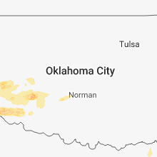 Regional Hail Map for Oklahoma City, OK - Wednesday, April 3, 2019
