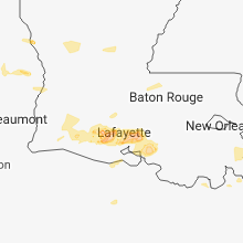 Regional Hail Map for Lafayette, LA - Thursday, April 4, 2019