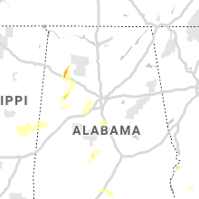 Regional Hail Map for Birmingham, AL - Saturday, April 6, 2019