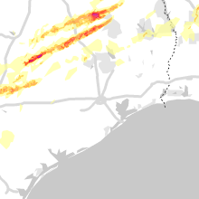 Regional Hail Map for Houston, TX - Saturday, April 6, 2019