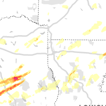 Regional Hail Map for Shreveport, LA - Saturday, April 6, 2019
