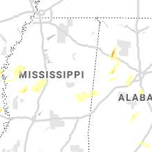 Regional Hail Map for Starkville, MS - Saturday, April 6, 2019