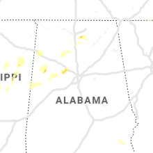 Regional Hail Map for Birmingham, AL - Sunday, April 7, 2019