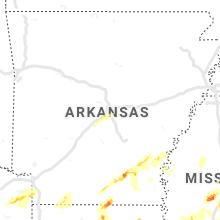 Regional Hail Map for Little Rock, AR - Sunday, April 7, 2019