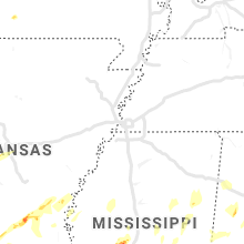 Regional Hail Map for Memphis, TN - Sunday, April 7, 2019