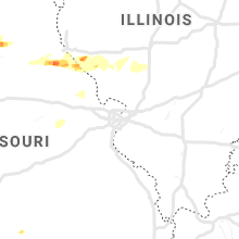 Regional Hail Map for Saint Louis, MO - Sunday, April 7, 2019