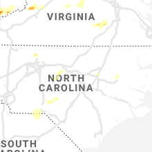 Regional Hail Map for Raleigh, NC - Monday, April 8, 2019