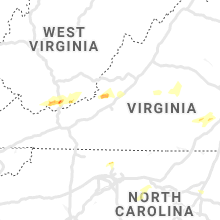 Regional Hail Map for Roanoke, VA - Monday, April 8, 2019